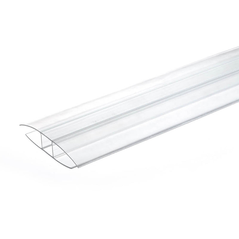 8mm 10mm Polycarbonate H Profile Clear Various Size 10 Year Warranty From £2.58 - Decoridea.co.uk
