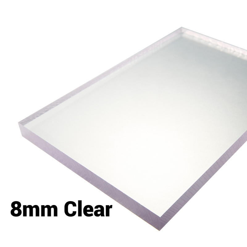 8mm Sheet / Screen / Polycarbonate Solid Clear Sheet Double Sided UV Protection Cut to Size Width 500mm & 610mm & 1000mm & 1220mm