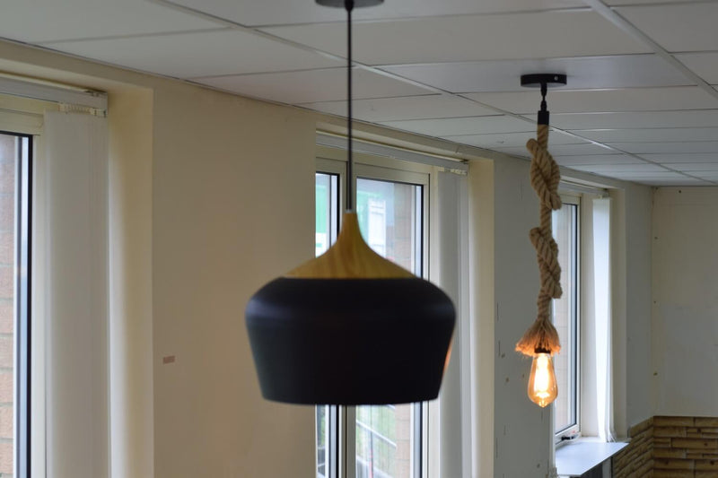 Aluminium Light Bowl Black Ceiling Lamp Pendant LED Light From £27.90 - Decoridea.co.uk