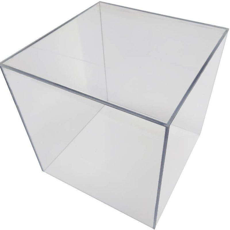 Clear Polycarbonate Cube Display Stand Square 6 Sided Box Tray Case Shop Holder