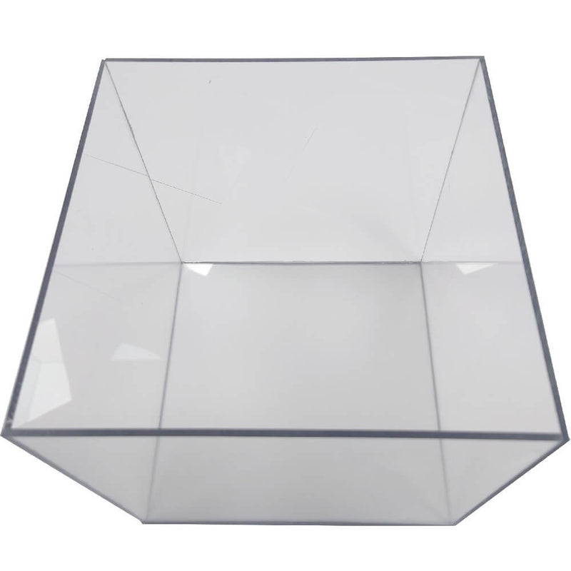 Clear Polycarbonate Cube Display Stand Square 5 Sided Box Tray Case Shop Holder