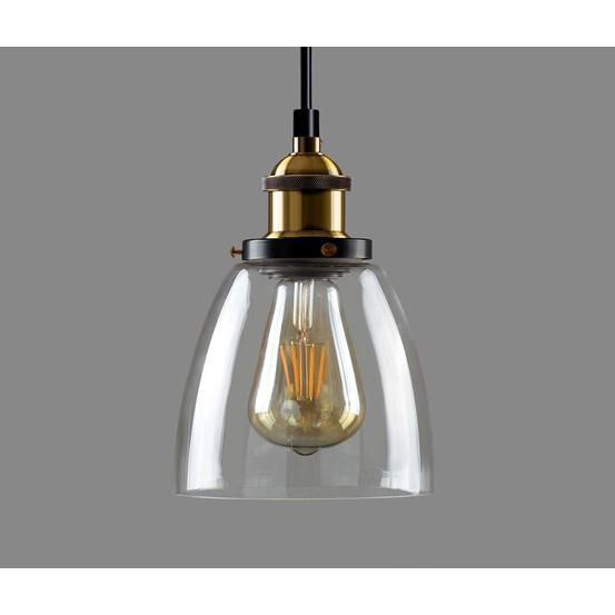 Estela Industrial Retro Loft Glass Ceiling Lamp Shade Pendant LED Light From £19.90 - Decoridea.co.uk