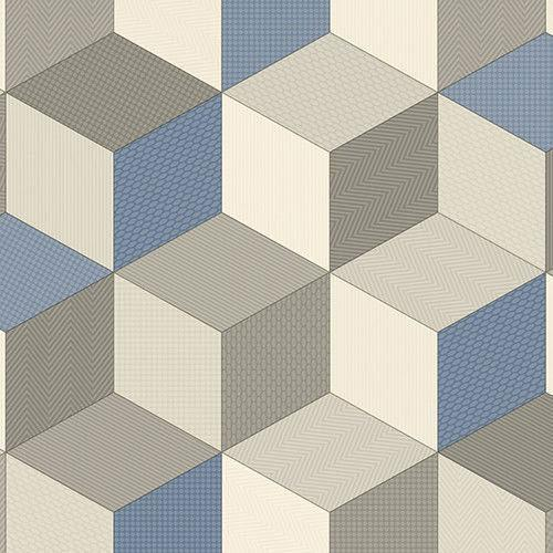 Cubes 073 Smart Vinyl Lino Flooring 4m Width Square Metre Price is £7.95 - Decoridea.co.uk