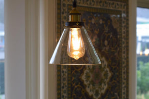 Delicia Industrial Retro Loft Glass Ceiling Lamp Shade Pendant LED Light From £18.90 - Decoridea.co.uk