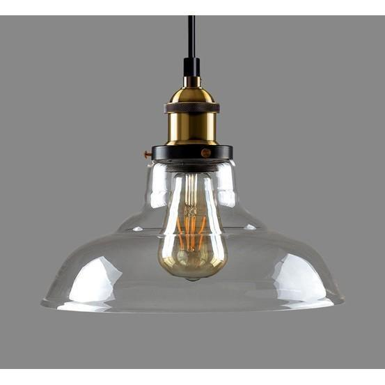 Carlita Industrial Retro Loft Glass Ceiling Lamp Shade Pendant LED Light From £20.90 - Decoridea.co.uk
