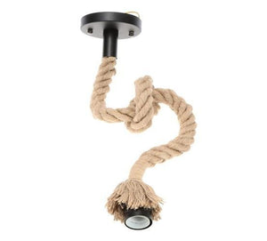Hemp Rope Single Head Vintage Hanging Ceiling Lamp Pendant LED Light From £16.90 - Decoridea.co.uk