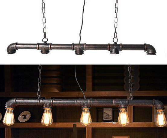 Industrial Steampunk Bar Light Pipe Ceiling Lamp Pendant LED Light From £38.90 - Decoridea.co.uk