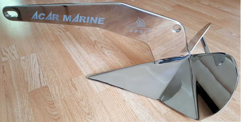 Stainless Steel D-Type Plough Anchor AISI 316 (10kg 650mm) Price is £450.00 - Decoridea.co.uk