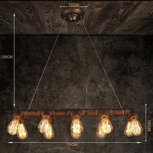 Vintage Industrial Chandelier Ceiling Light Steampunk Lamp Retro Metal Water Pipe LED Light From £56.90 - Decoridea.co.uk