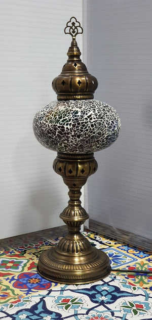 Mix Coloured Turkish Tiffany Mosaic Oriental Decorative Tall Table Lamp LED Light From £37.90 - Decoridea.co.uk