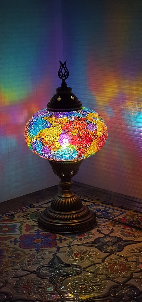 Mix Coloured 02 Turkish Tiffany Mosaic Oriental Decorative Table Lamp LED Light From £31.90 - Decoridea.co.uk