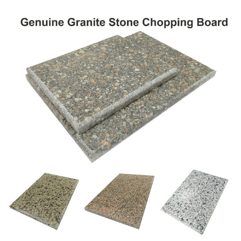 Genuine Granite Kitchen Rectangular Food Chopping Serving Board Worktop Saver