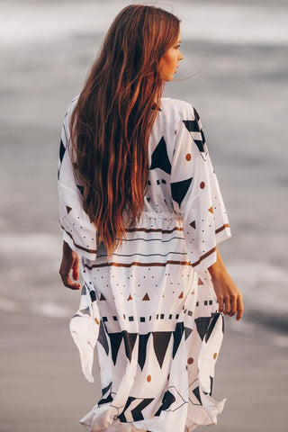 Geometric Patterns Open Front Cover Up
