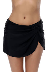 Drawstring Side High Waisted Swim Skirt