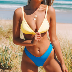Color Clock Low Waist Bikini Set