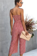 Off The Shouler Tie Waist Jumpsuit