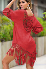 4 Colors Pathwork Tassel Cover Up