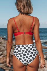 High Waisted Ruched Design Bikini Set