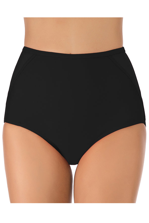 Solid Color High Waist Plus Size Swimwear Panty