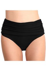 Ruched Full Coverage Swim Briefs