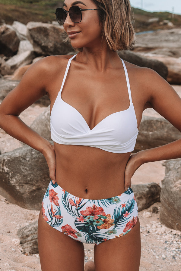 Twist Front High-waist Bikini Set