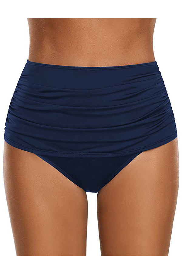 Solid Color Ruched Design Swim Shorts
