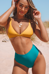 High Waist Triangle Shape Bikini Set