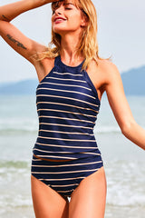 Stripe Print Tankini Set