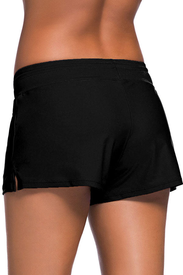 Plus Size Drawstring Waist Side Slit Shorts