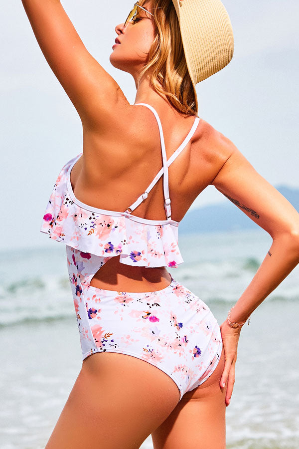 Girls Like Print One-piece Swimsuit