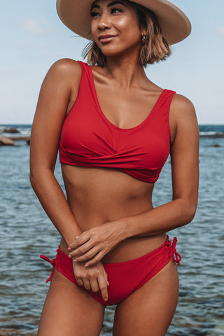 Twist Front Low-waist Bikini Set