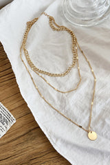 Ins Style Disc Charm Layered Necklace