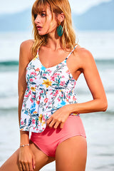 Floral Print High Waist Tankini Set