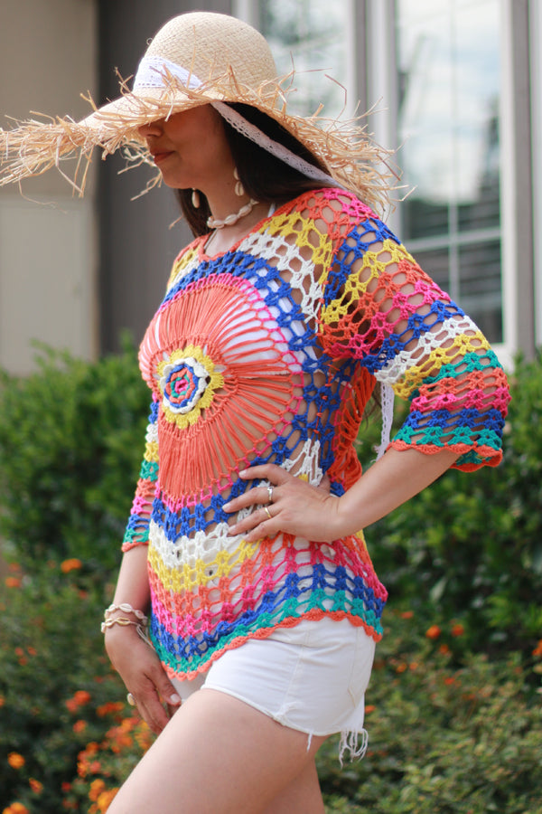 Colorful Sun Protection Cover Up