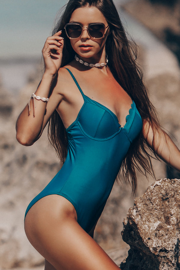 Spaghetti Strap Sexy One Piece Swimsuit