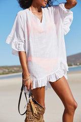 Solid Color Swimsuit Cover Up