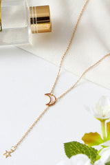 To The Moon And Star Necklace