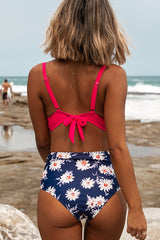 Flower Print Reverse Design Bikini Set