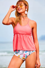 End of May High Waisted Tankini Set