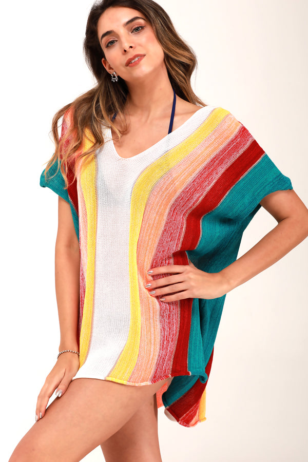 Rainbow Style Crochet Cover-Up