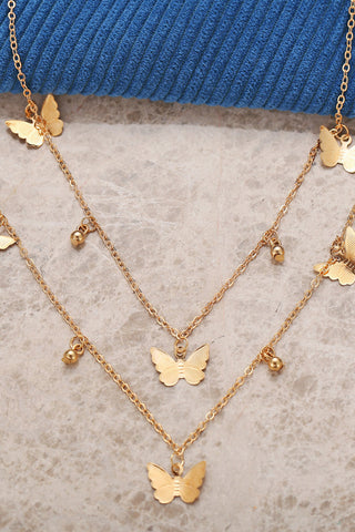Ins Style Layered Butterfly Necklace