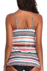 Powerful Love Stripe Print Tankini Set