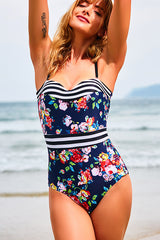 Floral Printing One-piece Swimsuit