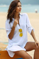 Asymmetrical Hem Beach Cover Up