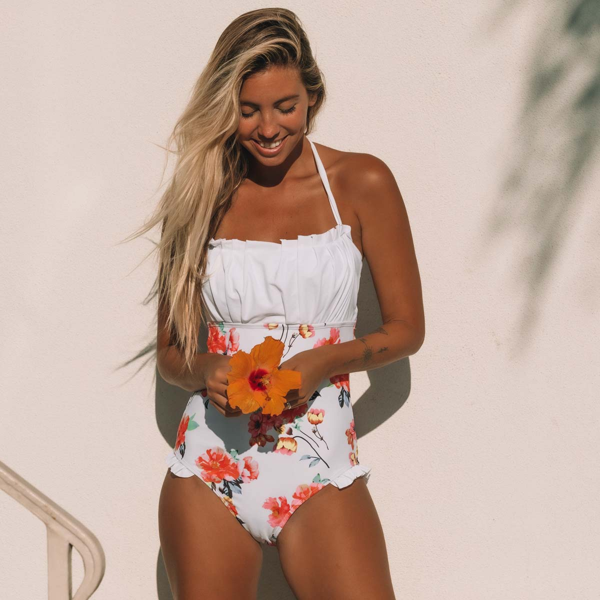 Heather Floral One Piece Swimsuit