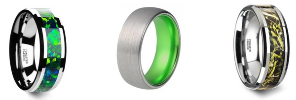 Green Wedding Band Styles