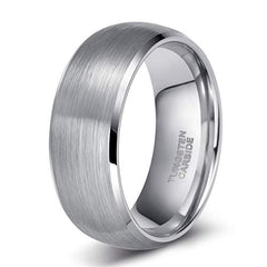 Classic tungsten wedding band