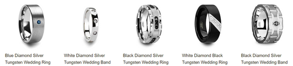 Diamond tungsten rings
