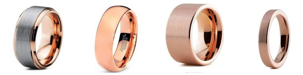 Rose gold wedding bands