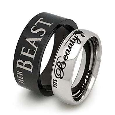 engraved couples rings